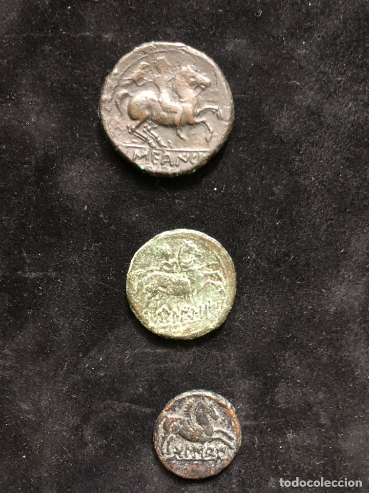 Monedas antiguas: Conjunto de tres monedas ibéricas. - Foto 2 - 202089341