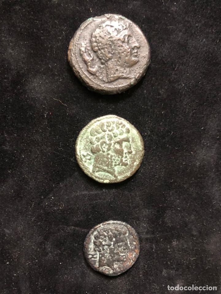 CONJUNTO DE TRES MONEDAS IBÉRICAS. (Numismática - Periodo Antiguo - Otras)