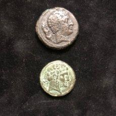 Monedas antiguas: CONJUNTO DE TRES MONEDAS IBÉRICAS.. Lote 202089341