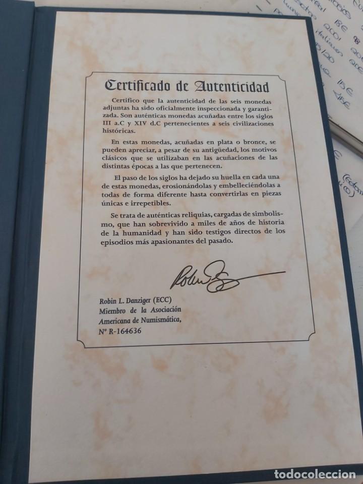Monedas antiguas: AUTENTICAS MONEDAS DE LAS CIVILIZACIONES DESAPARECIDAS. EN SU ESTUCHE ORIGINAL. - Foto 5 - 205790250