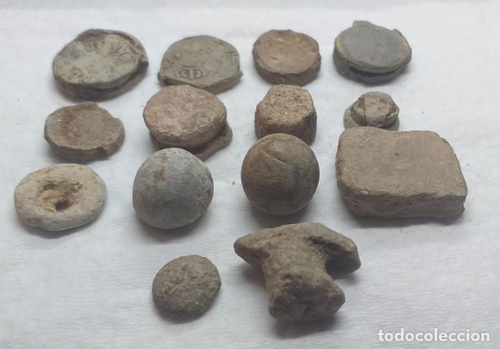 Monedas antiguas: LOTE DE 14 PLOMOS DE SELLADO Y OTROS DIFERENTES - Foto 2 - 208279275