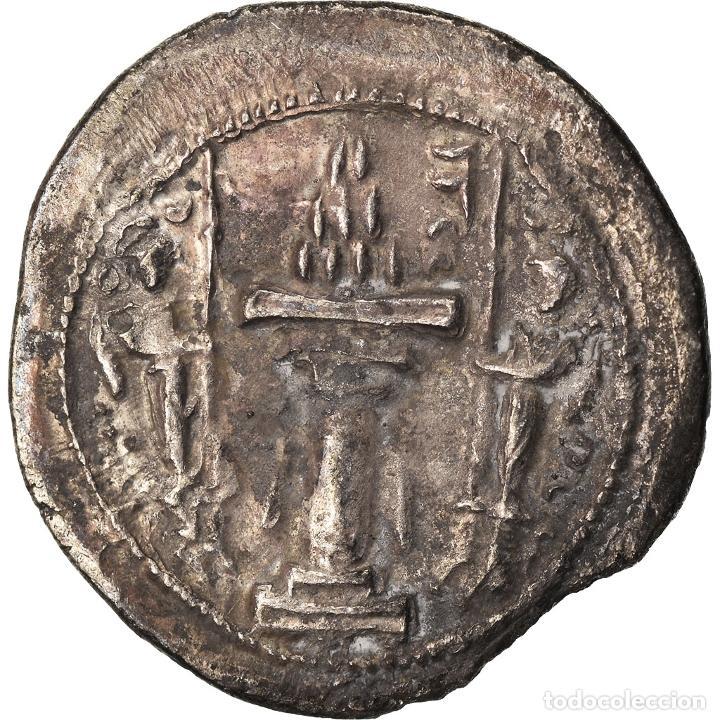 Monedas antiguas: Moneda, Sasanian Kings, Yazdgard I, Drachm, AS (Aspahan), MBC, Plata - Foto 2 - 208842361