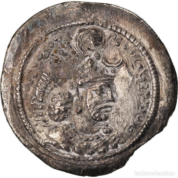 MONEDA, SASANIAN KINGS, YAZDGARD I, DRACHM, AS (ASPAHAN), MBC, PLATA (Numismática - Periodo Antiguo - Otras)