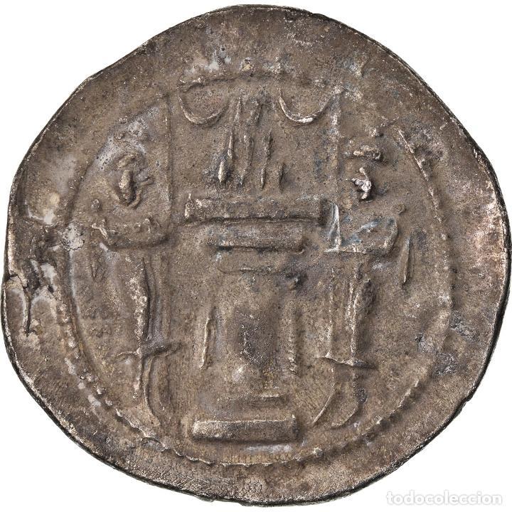Monedas antiguas: Moneda, Sasanian Kings, Yazdgard I, Drachm, MBC, Plata - Foto 2 - 208842681