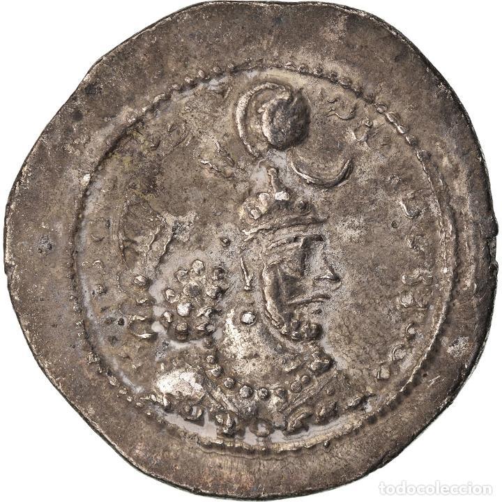 MONEDA, SASANIAN KINGS, YAZDGARD I, DRACHM, MBC, PLATA (Numismática - Periodo Antiguo - Otras)