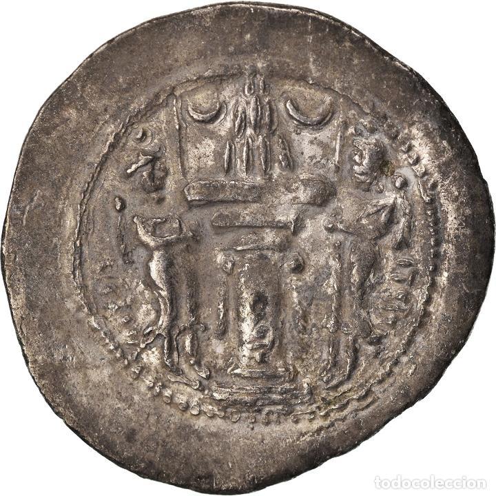 Monedas antiguas: Moneda, Sasanian Kings, Yazdgard I, Drachm, BC+, Plata - Foto 2 - 208843158