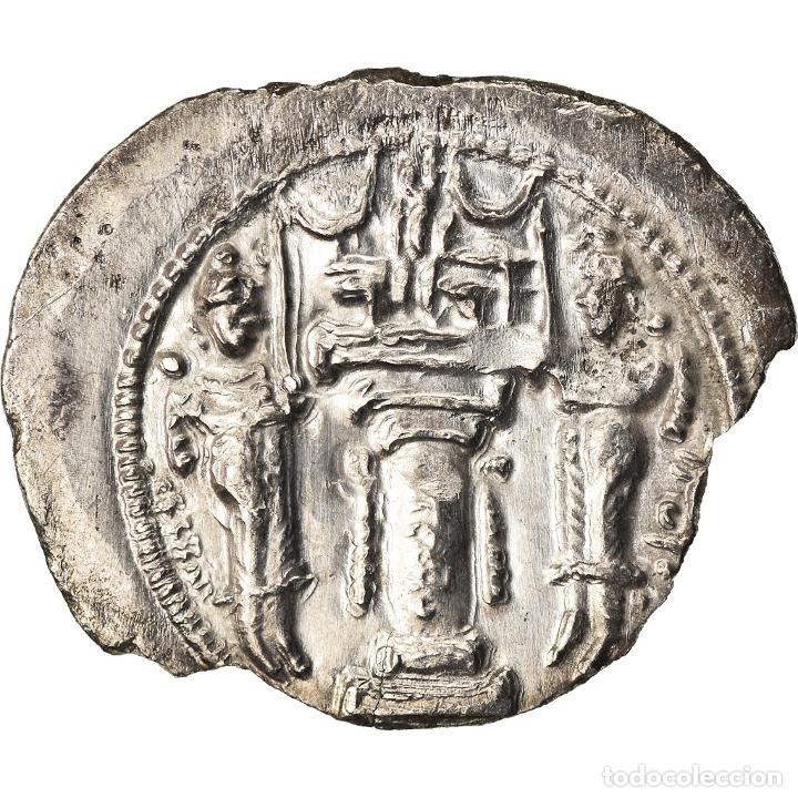 Monedas antiguas: Moneda, Sasanian Kings, Yazdgard I, Drachm, MBC, Plata - Foto 2 - 208843333