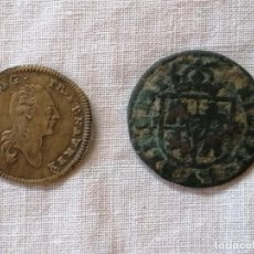Monedas antiguas: LOTE DE DOS ANTIGUAS MONEDAS. Lote 212689460