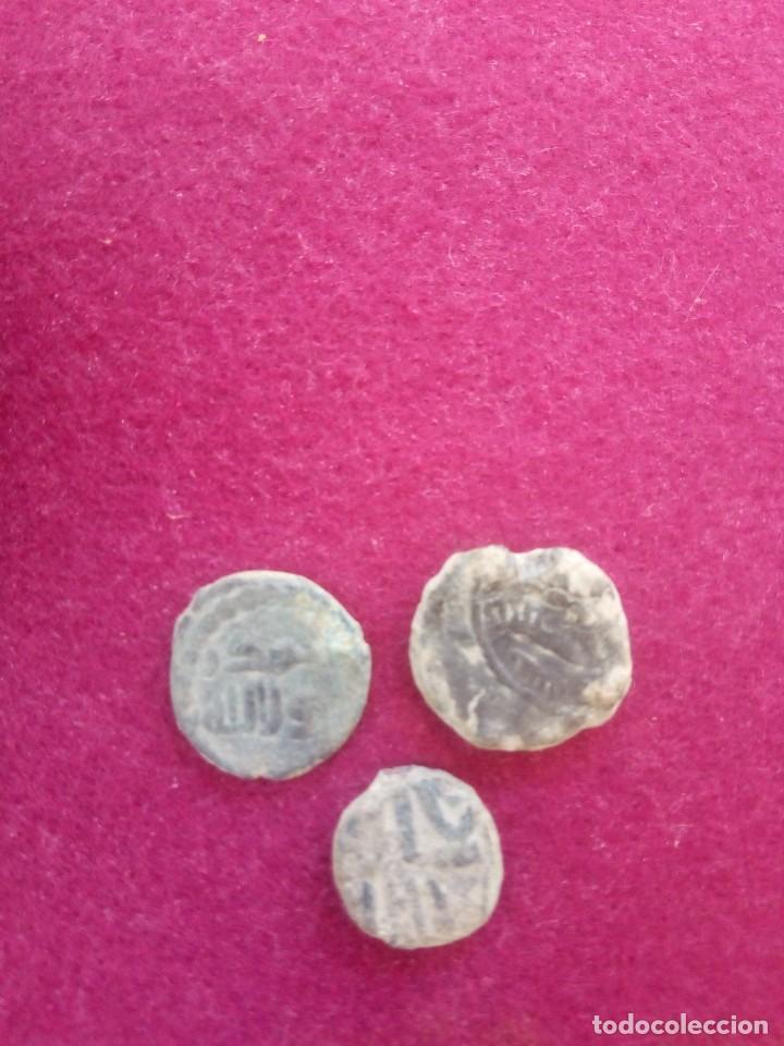 Monedas antiguas: Lote de 3 monedas hispano-arabes - Foto 2 - 213898875