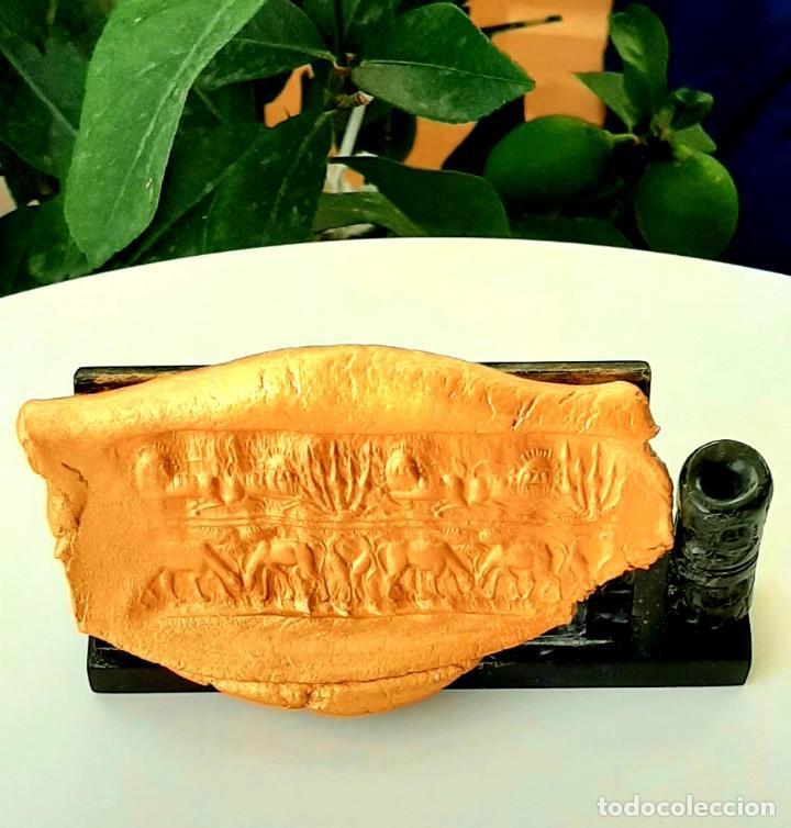 CILINDRO-SELLO AKKADIO. AKKADIAN CYLINDER-SEAL. CIRCA 2300-2200 A.C. MESOPOTAMIA (Numismática - Periodo Antiguo - Otras)