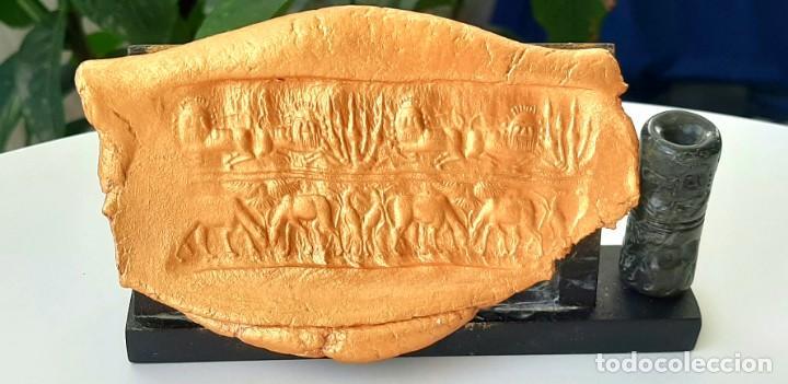 Monedas antiguas: Cilindro-Sello Akkadio. Akkadian Cylinder-Seal. Circa 2300-2200 a.c. Mesopotamia - Foto 2 - 217178847