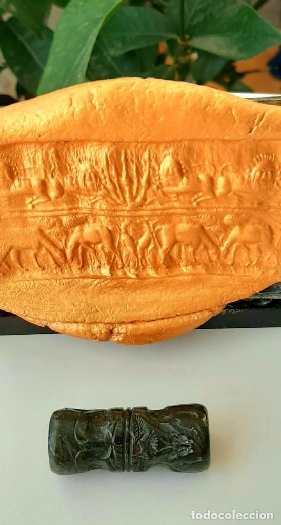 Monedas antiguas: Cilindro-Sello Akkadio. Akkadian Cylinder-Seal. Circa 2300-2200 a.c. Mesopotamia - Foto 3 - 217178847