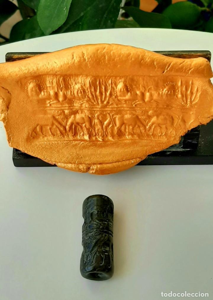 Monedas antiguas: Cilindro-Sello Akkadio. Akkadian Cylinder-Seal. Circa 2300-2200 a.c. Mesopotamia - Foto 4 - 217178847