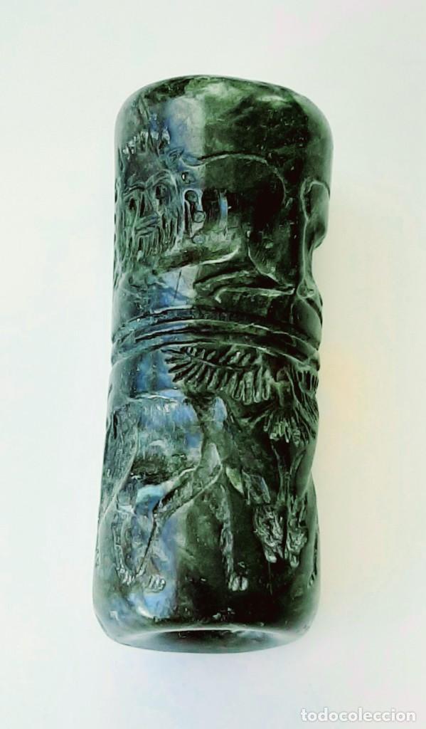 Monedas antiguas: Cilindro-Sello Akkadio. Akkadian Cylinder-Seal. Circa 2300-2200 a.c. Mesopotamia - Foto 8 - 217178847