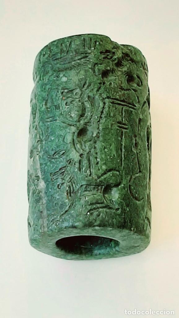 Monedas antiguas: Cilindro-Sello Chipro-Minoico Inscripto. Cypro-Minoan Inscribed Cylinder Seal. Circa 1400-1375 a.c. - Foto 13 - 217178527