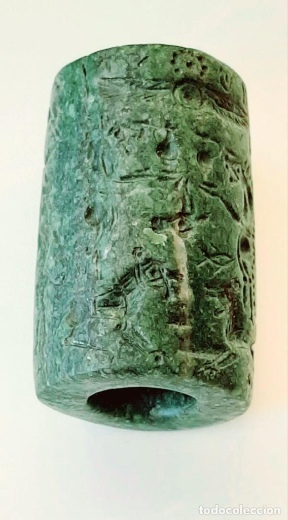 Monedas antiguas: Cilindro-Sello Chipro-Minoico Inscripto. Cypro-Minoan Inscribed Cylinder Seal. Circa 1400-1375 a.c. - Foto 15 - 217178527