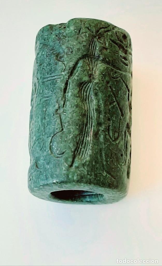 Monedas antiguas: Cilindro-Sello Chipro-Minoico Inscripto. Cypro-Minoan Inscribed Cylinder Seal. Circa 1400-1375 a.c. - Foto 21 - 217178527