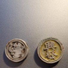 Monedas antiguas: 2 MONEDAS DE SIAM-THAILANDIA DE PORCELANA S. XIX. Lote 235525985