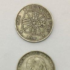 Monedas antiguas: MONEDAS 100 PTAS 1966 DE PLATA. Lote 246641450