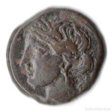 Monedas antiguas: ZEUGITANIA CARTHAGO CARTAGO AE TANIT HORSE *** RARE & NICE ***. Lote 253955835