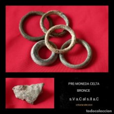 Monedas antiguas: LOTE PRE-MONEDA CELTA BRONCE. Lote 261218185
