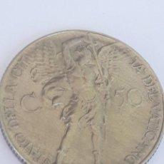 Monedas antiguas: VATICANO 50 CENTESIMI. Lote 268941509