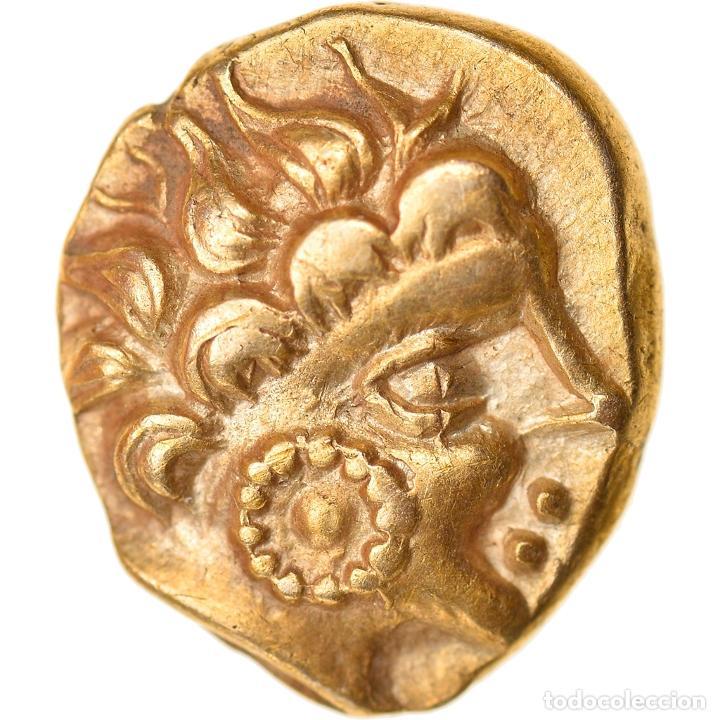 [#896955] MONEDA, NAMNETES, 1/4 STATER, 80-50 BC, EBC, ORO, DELESTRÉE:2193 (Numismática - Periodo Antiguo - Otras)