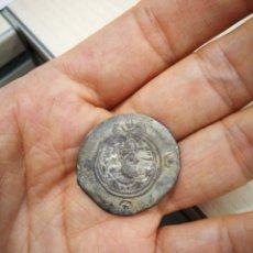 Monedas antiguas: AUTÉNTICO DRACMA DE PLATA SASANIDA DE KHUSRO II, RAM AÑO 3. Lote 271593648