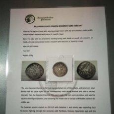 Monedas antiguas: DRACMA SASANIDA PLATA KHUSRO II ISFASHAN AÑO 33?. Lote 273294798
