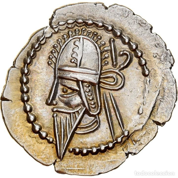 [#867362] MONEDA, PARTHIA (KINGDOM OF), VOLOGASES VI, DRACHM, EKBATANA, EBC, PLATA (Numismática - Periodo Antiguo - Otras)