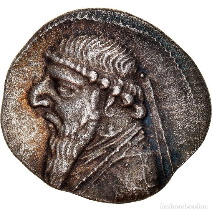 [#867360] MONEDA, PARTHIA (KINGDOM OF), MITHRADATES II, DRACHM, RHAGAI, EBC, PLATA (Numismática - Periodo Antiguo - Otras)