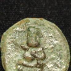 Monedas antiguas: 1/4 CALCO DE EBUSUS BES/TORO S. IV - II A. C. N.1. Lote 287822668