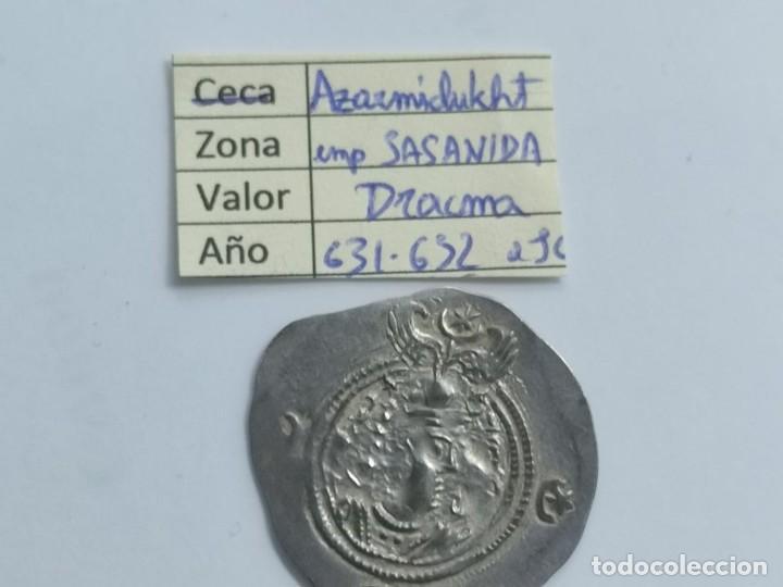 IMPERIO SASANIDA DRACMA DE AZRARMIDUCHT (631-632) (Numismática - Periodo Antiguo - Otras)