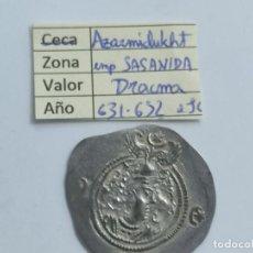 Monedas antiguas: IMPERIO SASANIDA DRACMA DE AZRARMIDUCHT (631-632). Lote 290002528
