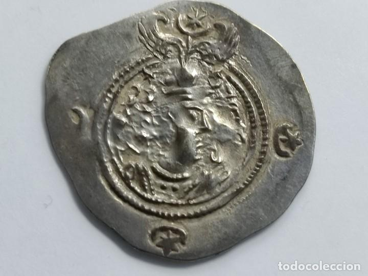 Monedas antiguas: IMPERIO SASANIDA DRACMA DE AZRARMIDUCHT (631-632) - Foto 6 - 290002528