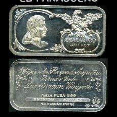 Monedas antiguas: LINGOTE DE PLATA MACIZA EDICION LIMITADA HOMENAJE AL REY ESPAÑOL VISIGODO AMALARICO AÑO 507 -Nº93. Lote 293980868