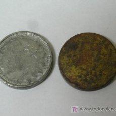 Monedas con errores: **LOTE DE 2 MONEDAS SIN ACUÑAR,---UNA DE PLOMO Y LA OTRA DE BRONCE?---- ¡¡¡ESPECIAL COLECCIONISTAS!!. Lote 26837054