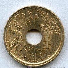 Monedas con errores: * ERROR *. 25 PESETAS AÑO 1996 CON EL ANVERSO LIGERAMENTE DESPLAZADO Y EL REVERSO NORMAL.. Lote 26780046