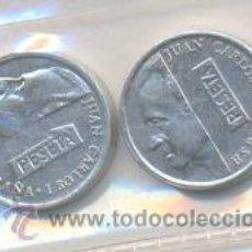 Monedas con errores: 3-188. JUEGO MONEDAS 1 PTA. 1992. LABIO PARTIDO Y NORMAL. S/C. Lote 10207369