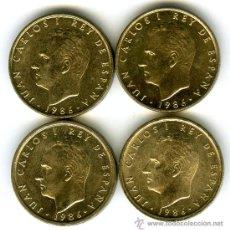Monedas con errores: LOTE 4 MONEDAS 100 PESETAS 1986 SIN CIRCULAR 2 NORMALES 2 VARIANTE 6 MAS CERRADO BUSTO MAS GRANDE. Lote 47008474