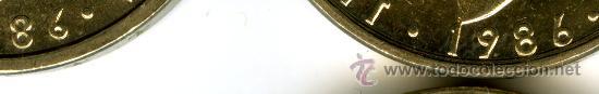 Monedas con errores: LOTE 4 MONEDAS 100 PESETAS 1986 SIN CIRCULAR 2 NORMALES 2 VARIANTE 6 MAS CERRADO BUSTO MAS GRANDE - Foto 2 - 47008474