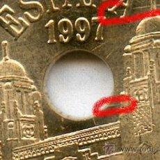 Monedas con errores: * ERROR * 25 PTAS 1997 . BANDAS DE MATERIAL O EXCESOS DE MATERIAL. PRECIOSA SIN CIRCULAR .. Lote 38192121