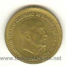 Monedas con errores: 7- PESETA FRANCO AÑO 1966 ALGO DESCENTRADA CANTO MAL ACUÑADO. Lote 27616701