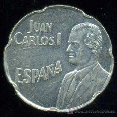 Monedas con errores: JUAN CARLOS I : 50 PESETAS 1990 CON ERROR DEL PANTOGRAFO.. Lote 26087214