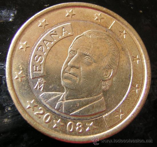 MONEDA 1 EURO ESPAÑOL, 2008, ERROR? (Numismática - España Modernas y Contemporáneas - Variedades y Errores)