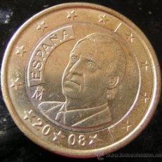 Monedas con errores: MONEDA 1 EURO ESPAÑOL, 2008, ERROR?. Lote 27065131