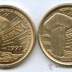 Monedas con errores: ERROR. VARIANTE DE CUÑO, GRABADO MAYOR EN REVERSO. 5 PESETAS 1997. OBSERVESE EL TAMAÑO DE LAS LETRAS. Lote 26920105