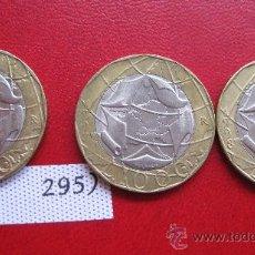 Coins with Errors - Italia ( error Alemania ) serie de 3 monedas de Italia de 1000 liras , bimetalica - 27486099