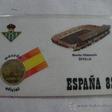 Monedas con errores: MONEDA OFICIAL ESPAÑA 82 EN TARJETA DEL BENITO VILLAMARIN SEVILLA. Lote 27920769