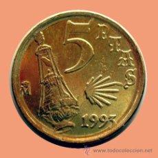 Monedas con errores: ERRORES Y VARIANTES, 5 PESETAS 1993 . EXCESO DE METAL Y VIEIRA. Lote 28605011
